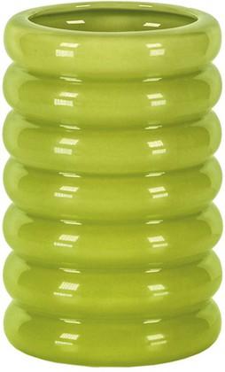 Стакан для зубных щёток керамический зелёный Kleine Wolke LIPSY 5801625852