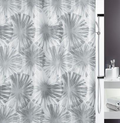 Штора для ванной комнаты 240x180см текстильная, серая Spirella LIOLA 1017917