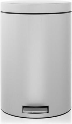 Мусорный бак 20л с разделителем для мусора и педалью, MotionControl, серый металлик Brabantia 288760