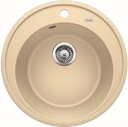 Кухонная мойка круглая, гранит шампань Blanco RIONA 45 521400