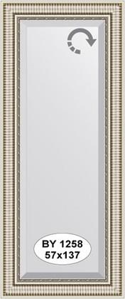 Зеркало 57x137см с фацетом 25мм в багетной раме серебряный акведук Evoform BY 1258