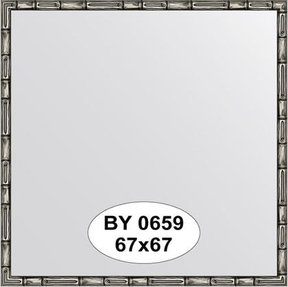 Зеркало 67x67см в багетной раме серебро-бамбук Evoform BY 0659