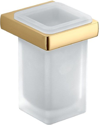 Стакан настенный стеклянный с держателем, золото Colombo LULU B6202.gold