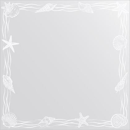Зеркало для ванной с орнаментом 60x60см FBS CZ 0767