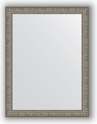 Зеркало в багетной раме 64x84см виньетка состаренное серебро 56мм Evoform BY 3168