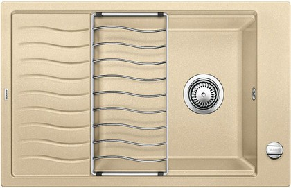 Кухонная мойка оборачиваемая с крылом, с клапаном-автоматом, гранит, шампань Blanco ELON XL 6 S 518741