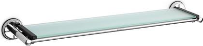 Полочка стеклянная 63см с держателями из полированной стали Brabantia 427442