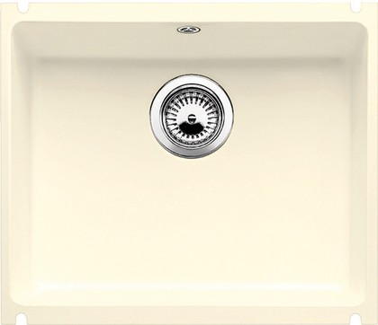 Кухонная мойка без крыла, керамика, магнолия глянцевая Blanco SUBLINE 500-U PuraPlus 519596
