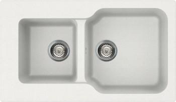 Кухонная мойка оборачиваемая без крыла, гранит, белый Omoikiri Maru 86-2-WH 4993287
