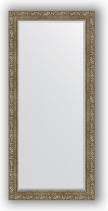 Зеркало с фацетом в багетной раме 75x165см виньетка античная латунь 85мм Evoform BY 3593