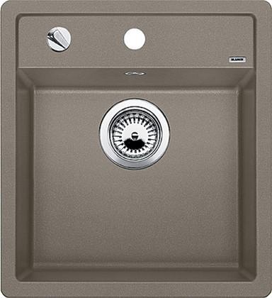 Кухонная мойка без крыла, с клапаном-автоматом, гранит, серый беж Blanco DALAGO 45 517317