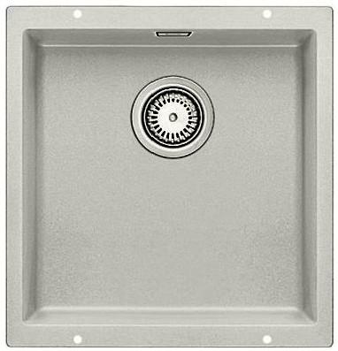 Кухонная мойка без крыла, с клапаном-автоматом, гранит, жемчужный Blanco SUBLINE 400-U 520653