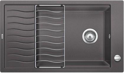 Кухонная мойка оборачиваемая с крылом и решеткой, гранит тёмная скала Blanco ELON XL 8 S 520485