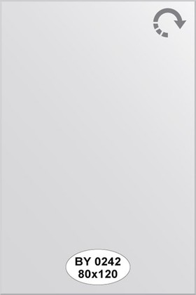 Зеркало 80x120см с фацетом 5мм Evoform BY 0242