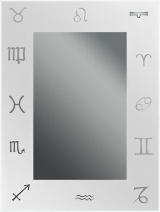 Зеркало 45x60см с декоративным белым принтом Dubiel Vitrum LUSTRO N8 5905241000145