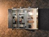 Зеркальный трёхдверный шкаф 100.0x75.2см с подсветкой Keuco ROYAL UNIVERSE 12704171301