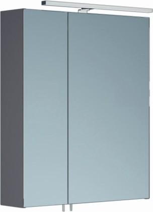 Шкаф зеркальный со светильником, 2 двери 60x15x70см Verona Area+ AA601R