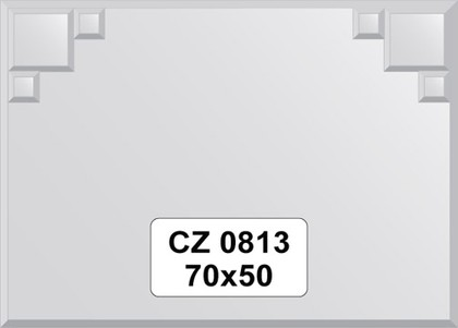 Зеркало для ванной 70x50см с декором FBS CZ 0813
