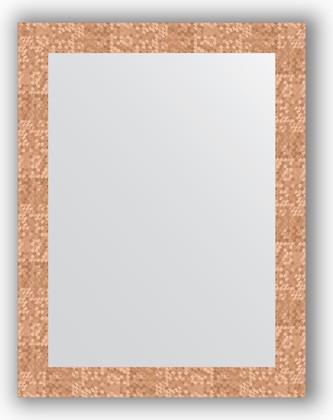 Зеркало в багетной раме 66x86см соты медь 70мм Evoform BY 3178