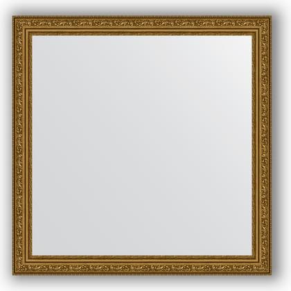 Зеркало в багетной раме 74x74см виньетка состаренное золото 56мм Evoform BY 3231