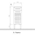 Шкаф средний напольный, 1 ящик, 1 корзина, 35x34x100см Verona Moderna MD411