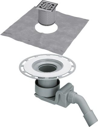 Трап 150x150мм для ванной комнаты с решеткой из нержавеющей стали Viega Advantix 557058