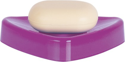 Мыльница настольная фиолетовая Spirella TRIX ACRYLIC 1015485