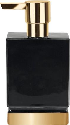 Ёмкость для жидкого мыла керамическая, чёрный/золото Spirella ROMA 1017981