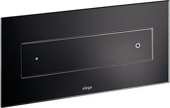 Кнопка смыва для унитаза, чёрное стекло Viega Visign for Style 12 687861