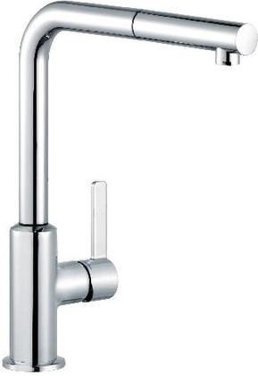 Смеситель для кухни однорычажный с выдвижным изливом, хром Kludi L-INE S 408510575