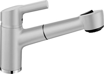 Классический кухонный однорычажный смеситель с выдвижным изливом, жемчужный Blanco ELIPSO-S II 520739