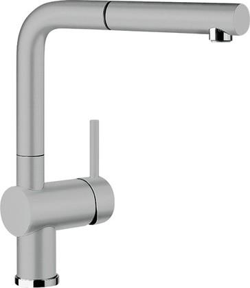 Смеситель кухонный однорычажный с высоким выдвижным изливом, керамика серый алюминий Blanco LINUS-S 516709