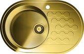 Кухонная мойка с правым крылом, нержавеющая сталь, латунь Omoikiri Kasumigaura 77-AB-L 4993070