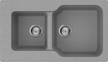 Кухонная мойка оборачиваемая без крыла, гранит, платина Omoikiri Maru 86-2-PL 4993289