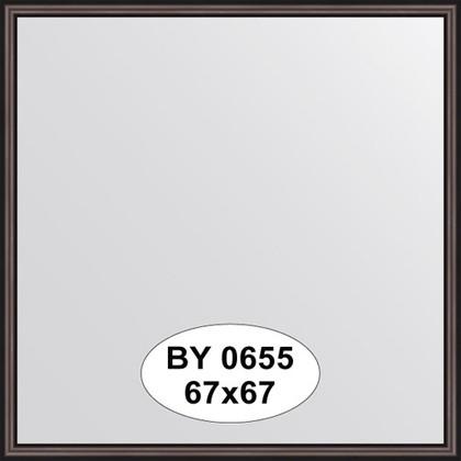 Зеркало 67x67см в багетной раме махагон Evoform BY 0655