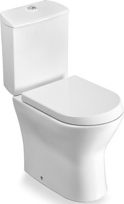 Унитаз напольный, выпуск вертикальный, комплект (чаша, бачок, сиденье) Roca NEXO 342640