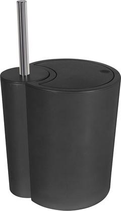 Набор: ёрш с подставкой и ведро, чёрный Spirella SUN&MOON 1018148