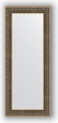 Зеркало в багетной раме 63x153см вензель серебряный 101мм Evoform BY 3128