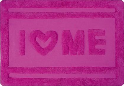 Коврик для ванной комнаты хлопковый 60x90см розовый Spirella Ibiza Love LOVE 1017823