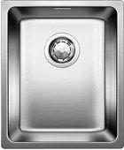 Кухонная мойка оборачиваемая без крыла, с клапаном-автоматом, нержавеющая сталь зеркальной полировки Blanco ANDANO 340-IF 518308