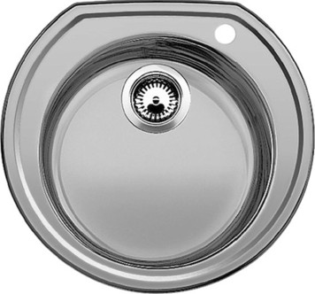 Кухонная мойка без крыла, нержавеющая сталь матовой полировки Blanco RONDOVAL 513312