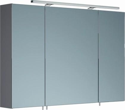 Шкаф зеркальный со светильником, 3 двери 106x15x70см Verona Area+ AA606R