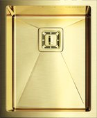 Кухонная мойка без крыла, нержавеющая сталь золотая Omoikiri Akisame OAK-46-U-IN-LG