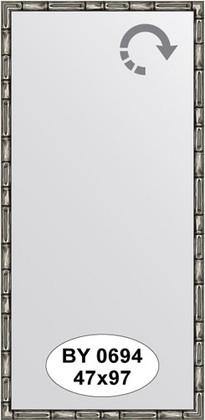 Зеркало 47x97см в багетной раме серебро-бамбук Evoform BY 0694