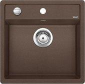Кухонная мойка без крыла, с клапаном-автоматом, гранит, кофе Blanco DALAGO 5 518529