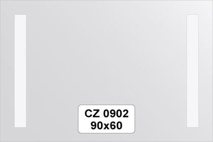 Зеркало для ванной 90x60см со светильниками FBS CZ 0902