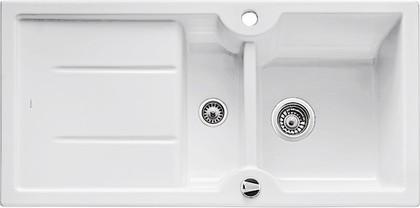 Кухонная мойка оборачиваемая с крылом, с клапаном-автоматом, керамика, белый глянцевый Blanco IDESSA 6 S 516000