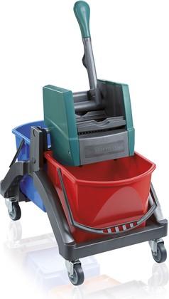 Комплект для уборки (подставка на колесах и 2 ведра с отжимом) Leifheit 59101