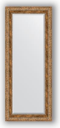 Зеркало с фацетом в багетной раме 55x135см виньетка античная бронза 85мм Evoform BY 3514