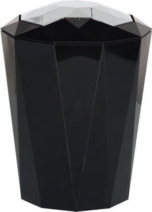 Ведро пластиковое чёрное 5л Spirella CRYSTAL 1018134